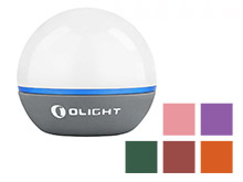 Olight Obulb Rechargeable LED Light Orb - 55 Lumens - Uses Built-In Li-Poly Battery Pack - Available in Basalt Grey, Wine Red, Moss Green, and Orange, Pink, or Purple Limited Edition Colors