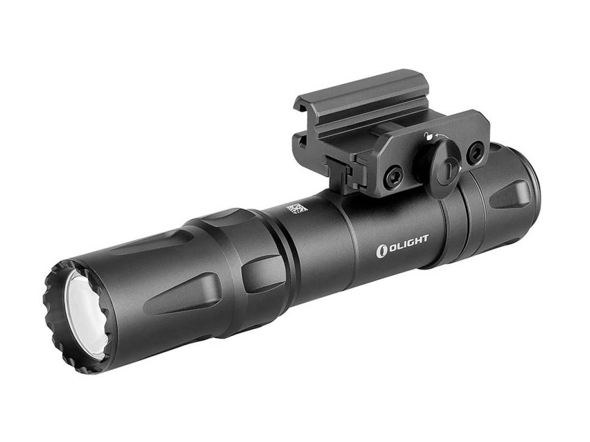 Olight Odin Tactical Weapon Mounted Flashlight in Black with Mount