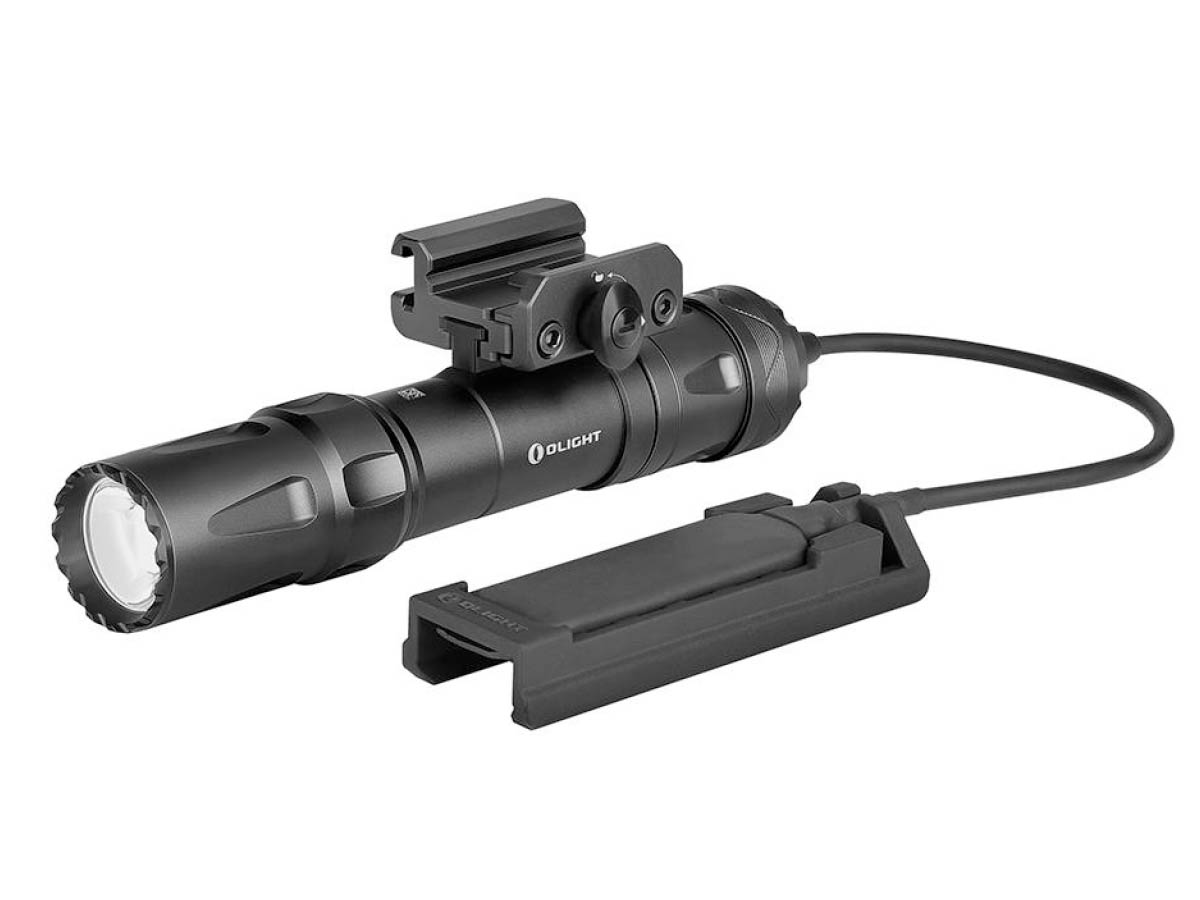 Olight Odin Tactical Weapon Mounted Flashlight in Black with Remote Pressure Switch