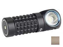 Olight Perun Mini Multi-Use LED Flashlight - High Performance Cool White LED - 1000 Lumens - Includes 1 x 16340 - Black and Desert Tan (Limited Edition)