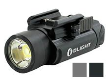Olight PL-2 Valkyrie LED Pistol Light - Picatinny and Glock Rails - CREE XHP35 HI CW LED - 1200 Lumens - Includes 2 x CR123As - Black and Grey