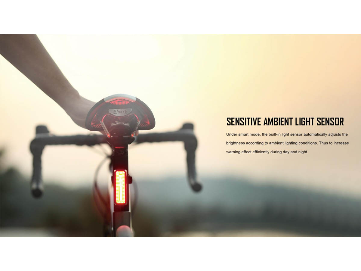 Olight RN 180 TL Bike Tail Signal Light - Slide - Day and Night Light Sensor