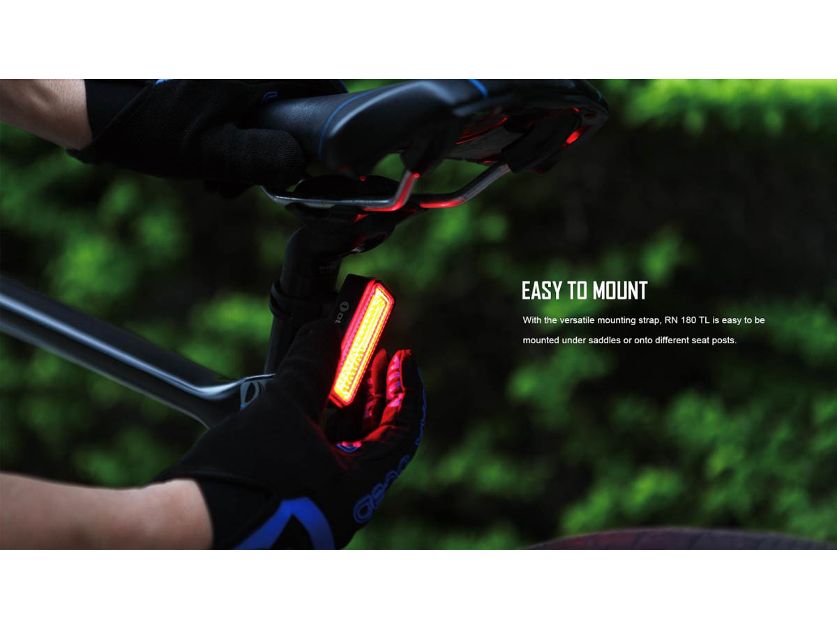 Olight RN 180 TL Bike Tail Signal Light - Slide - Dual Mounting Options