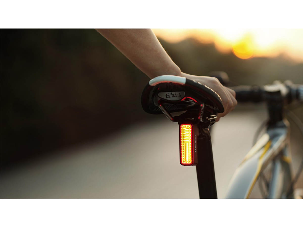 Olight RN 180 TL Bike Tail Signal Light - In Use Red COB Light