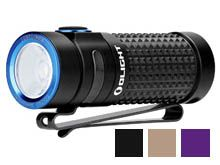 Olight S1R II Baton Rechargeable Flashlight - CREE XM-L2 U4 LED - 1000 Lumens - Uses 1 x RCR123A (included) - Black, Desert Tan, and Purple (Limited Edition)
