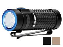 Olight S1R II Baton Rechargeable Flashlight - CREE XM-L2 U4 LED - 1000 Lumens - Uses 1 x RCR123A (included) - Black or Desert Tan
