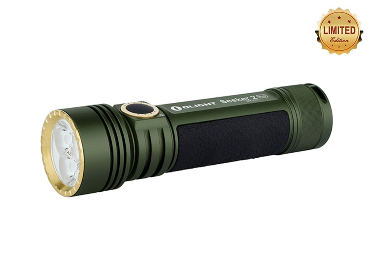 olight seeker 2 pro black back angled down and to the left