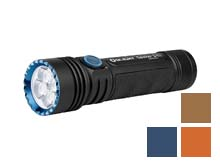 Olight Seeker 3 Pro Rechargeable LED Flashlight - 4200 Lumens - Includes 1 x 5000mAh 21700 - Black, Orange, Desert Tan, or Night Wolf Limited Edition Colors