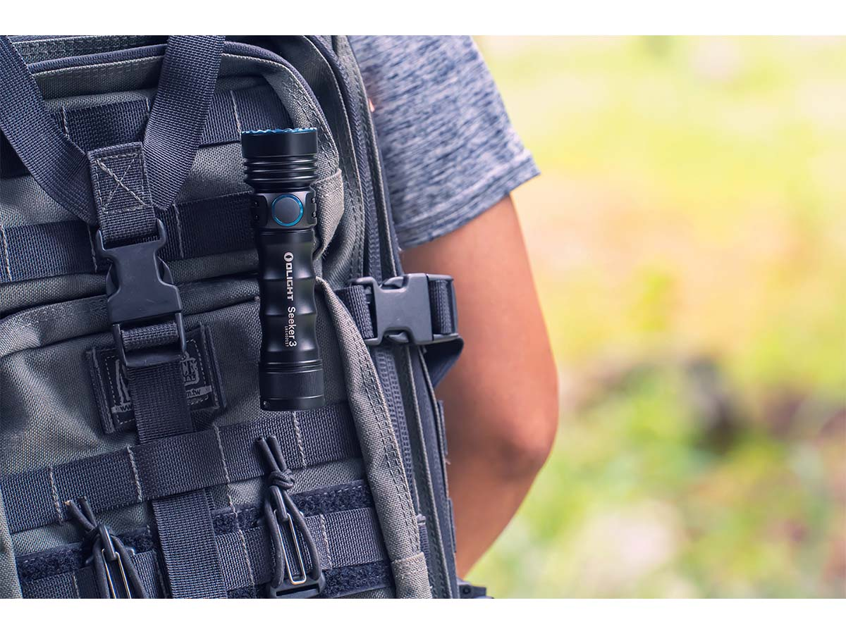 Olight Seeker 3 - Black - Backpack Attached