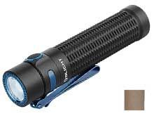 Olight Warrior Mini Rechargeable LED Flashlight - 1500 Lumens - Includes 1 x 18650 - Black or Desert Tan