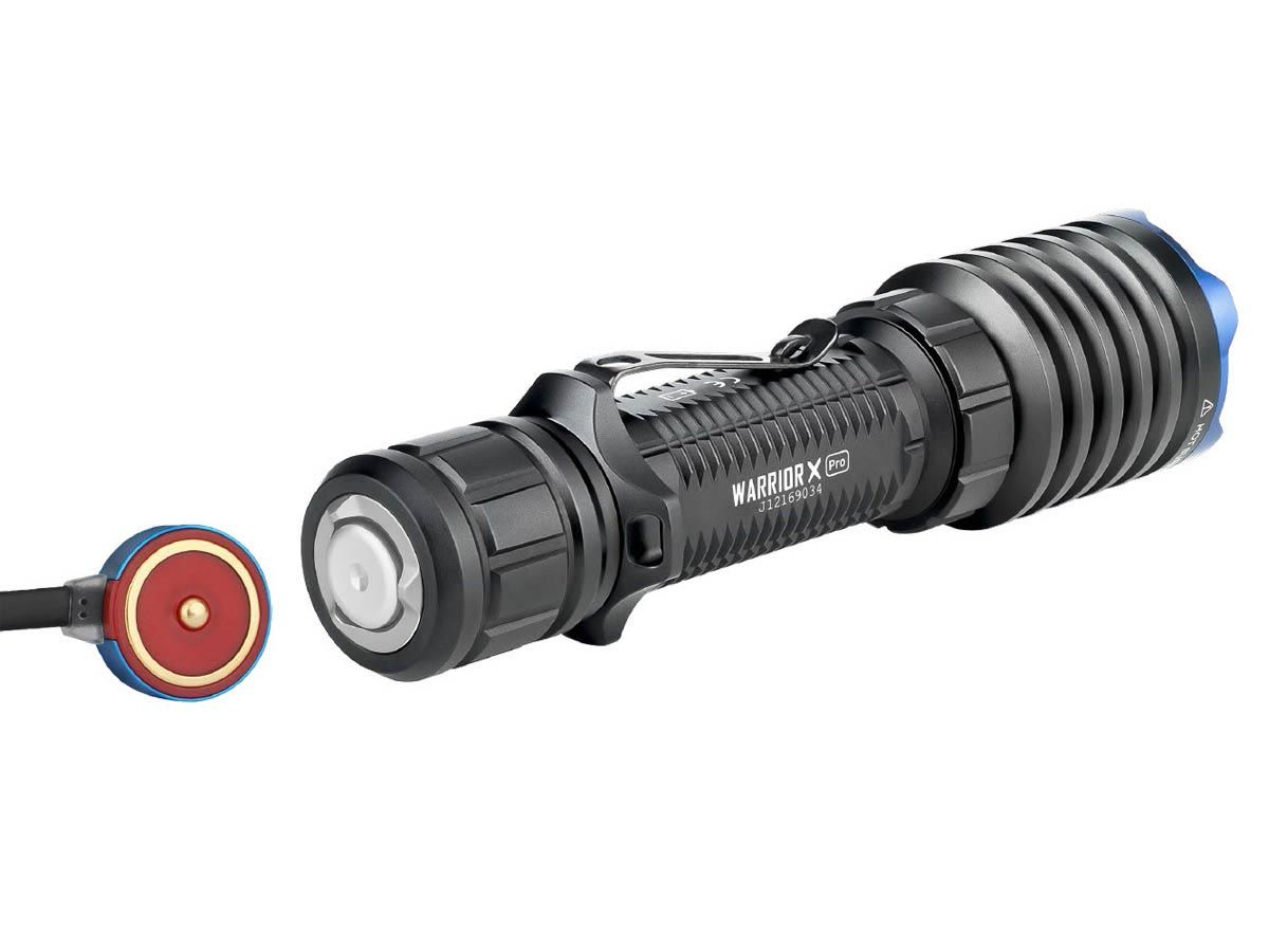 Olight Warrior X Pro Magnetic Charging Tailcap with Charger