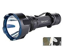 Olight Warrior X Turbo Extreme Distance Rechargeable LED Flashlight - 1100 Lumens - Includes 1 x 21700 - Black, Desert Camo (Limited Edition), or Grey Camo (Limited Edition)
