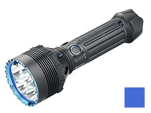 Olight X9R Marauder Rechargeable Search Light - 6 x CREE XHP70.2 LEDs - 25000 Lumens - Includes 6000mAh 14.4V Li-Ion Battery Pack - Black or Blue (Limited Edition)