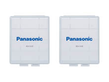 Panasonic Clear Battery Cases for 4 x AA or 5 x AAA - 2 or 6 Pack