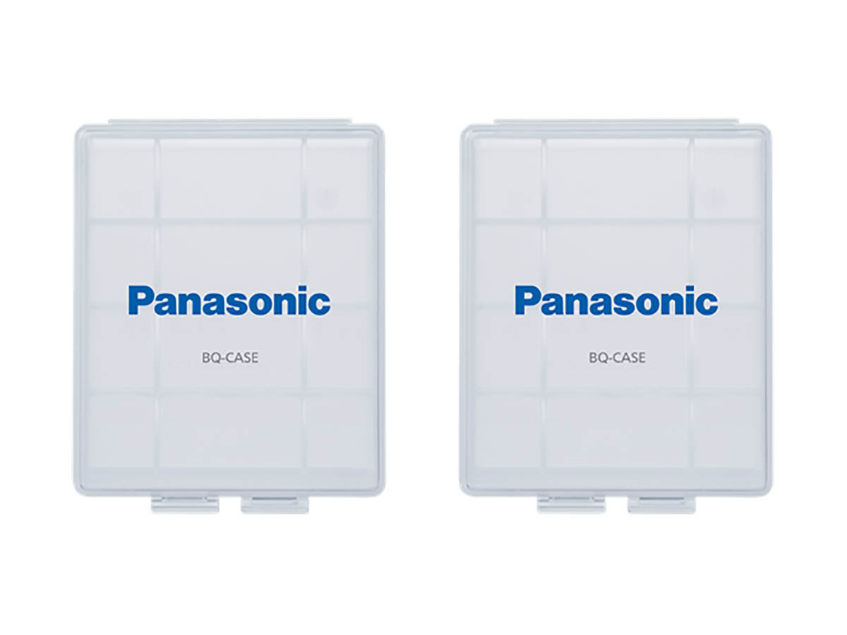 Panasonic Clear Battery Cases for 4 x AA or 5 x AAA - 2 Pack
