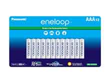 Panasonic Eneloop BK-4MCCA12FA AAA 800mAh 1.2V Low Self Discharge Nickel Metal Hydride (NiMH) Button Top Batteries - 12 Pack Retail Card