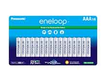 Panasonic Eneloop BK-4MCCA16FA AAA 800mAh 1.2V Low Self Discharge Nickel Metal Hydride (NiMH) Button Top Batteries - 16 Pack Retail Card