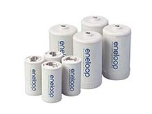 Panasonic Eneloop C and D Cell Spacer AA Battery Converters - 8 Pack
