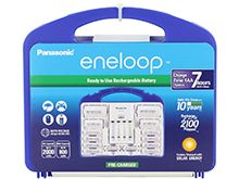 Panasonic Eneloop Power Pack - 4 Position Charger, 8 x Eneloop AA, 2 x Eneloop AAA, 2 x C Cell Spacers, 2 x D Cell Spacers (K-KJ17MCC82A)