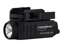 Powertac Mark Mini Rechargeable LED Weapon Light - 550 Lumens - Uses Built-In Li-Poly Battery Pack