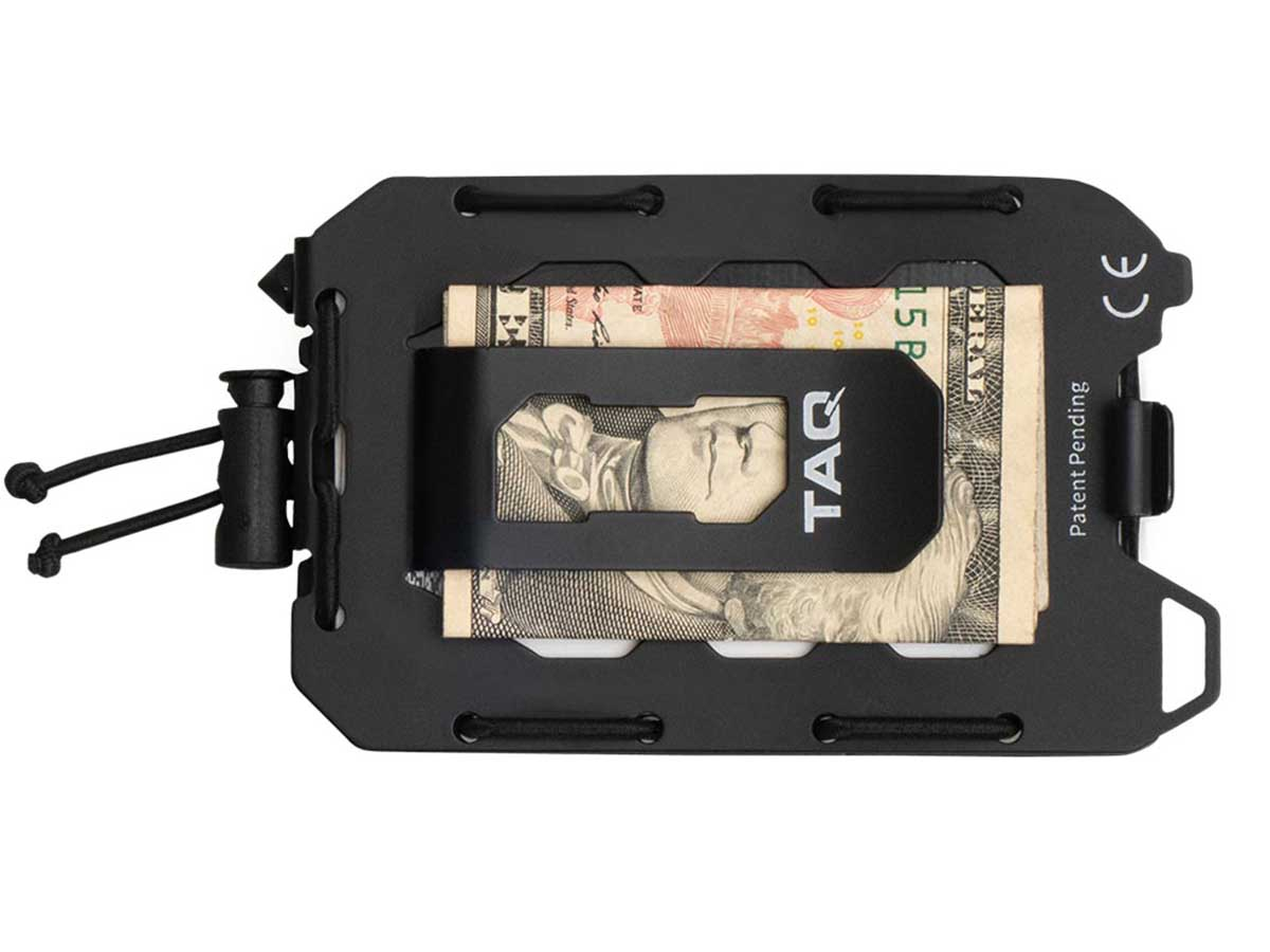 Quiqlite TAQ Wallet black back side with clip