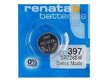 Renata 397 MP 32mAh 1.55V Silver Oxide Coin Cell Battery - 1 Piece Tear Strip, Sold Individually