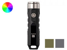 RovyVon A1x Polyamide Keychain Rechargeable LED Flashlight- 650 or 450 Lumens - CREE XP-G3 or Nichia 219C - Includes Built-In Li-ion Battery Pack - Black, Grey, or Army Green