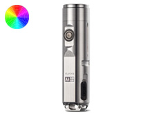 RovyVon A4 Pro Mini Keychain Rechargeable LED Flashlight - 700 or 500 Lumens - CREE XP-G3 or Nichia 219C - Includes Built-In Li-ion Battery Pack - Titanium
