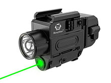 RovyVon GL3 Pro USB-C Rechargeable Weapon Light with Green Laser - 700 Lumens - CREE XP-L HI - Includes 1 x 16340