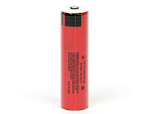 Sanyo NCR 18650GA 3500mAh 3.7V Protected High-Drain 10A Lithium Ion (Li-ion) Button Top Battery - Boxed