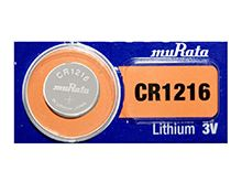 Murata CR1216 30mAh 3V Lithium (LiMnO2) Coin Cell Watch Battery - 1 Piece Tear Strip, Sold Individually