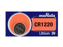 Murata CR1220 (formerly Sony) 40mAh 3V Lithium (LiMnO2) Coin Cell Watch Battery - 1 Piece Tear Strip, Sold Individually