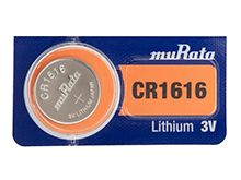 Murata (formerly Sony) CR1616 60mAh 3V Lithium (LiMnO2) Coin Cell Watch Battery - 1 Piece Tear Strip, Sold Individually