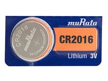 Murata CR2016 90mAh 3V Lithium (LiMnO2) Coin Cell Watch Battery - 1 Piece Tear Strip, Sold Individually