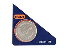 Murata (formerly Sony) CR2430 280mAh 3V Lithium (LiMnO2) Coin Cell Watch Battery - 1 Piece Tear Strip, Sold Individually