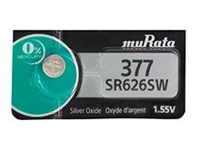 Murata SR626SW 377 28mAh 1.55V Silver Oxide Watch Battery - 1 Piece Tear Strip, Sold Individually