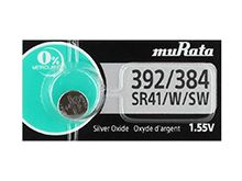 Murata 392 (formerly Sony) 1.55V Silver Oxide Button Cell Battery (LR41 AG3. SR41, SR736, SB-B1, V36A) - 1 Piece Tear Strip, Sold Individually
