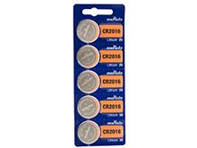 Murata CR2016 90mAh 3V Lithium Primary (LiMNO2) Coin Cell Batteries - 5-Piece Tear Strip