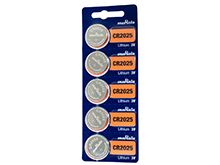 Murata CR2025 160mAh 3V Lithium Primary (LiMNO2) Coin Cell Batteries - 5-Piece Tear Strip