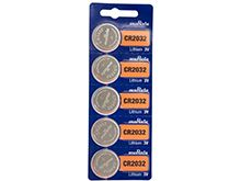 Murata CR2032 Lithium Primary (LiMNO2) Coin Cell Batteries - 3V 220mAh - 5 Piece Tear Strip