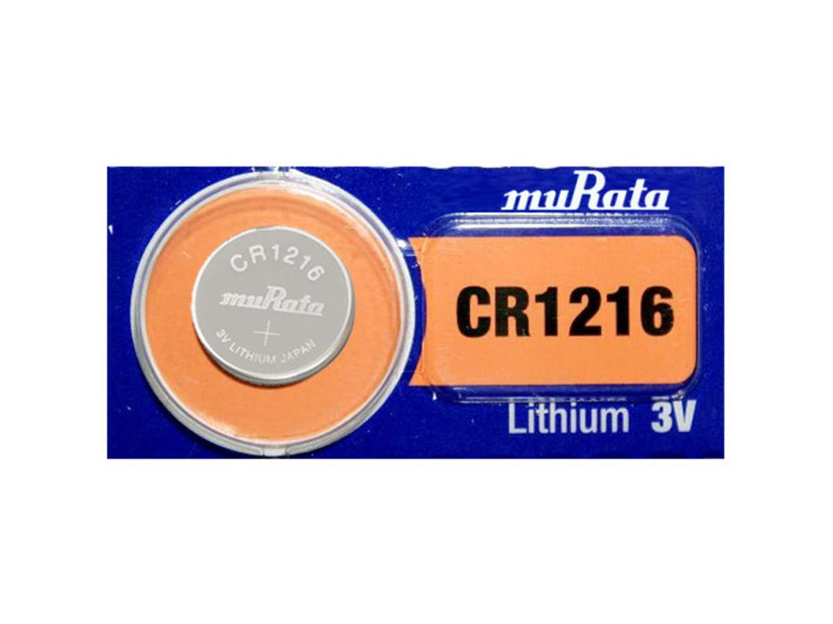 Murata CR1216 coin cell 1 piece tear strip