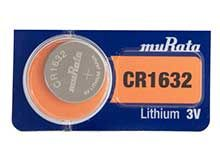 Murata CR1632 (formerly Sony) 140mAh 3V Lithium (LiMnO2) Coin Cell Watch Battery - 1 Piece Tear Strip