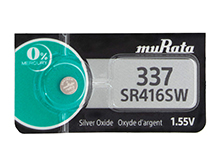 Murata (formerly Sony) SR416SW 337 8.3mAh 1.55V Silver Oxide Watch Battery - 1 Piece Tear Strip, Sold Individually