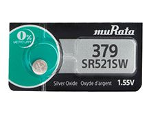 Murata SR521SW 379 16mAh 1.55V Silver Oxide Button Cell Battery - 1 Piece Tear Strip, Sold Individually
