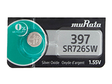 Murata (formerly Sony) SR726SW 397 35mAh 1.55V Silver Oxide Watch Battery - 1 Piece Tear Strip