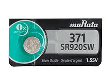 Murata (formerly Sony) SR920SW 371 44mAh 1.55V Silver Oxide Watch Battery - 1 Piece Tear Strip