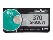 Murata (formerly Sony) SR920W 370 44mAh 1.55V Silver Oxide Watch Battery - 1 Piece Tear Strip