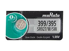 Murata (formerly Sony) SR927W 399 52mAh 1.55V Silver Oxide Watch Battery - 1 Piece Tear Strip