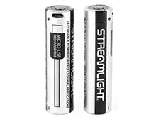 Streamlight 22102 USB 18650 2-Pack 2600mAh 3.7V Protected Lithium Ion (Li-Ion) Button Top Battery With Built-In USB Charger - 2-pack