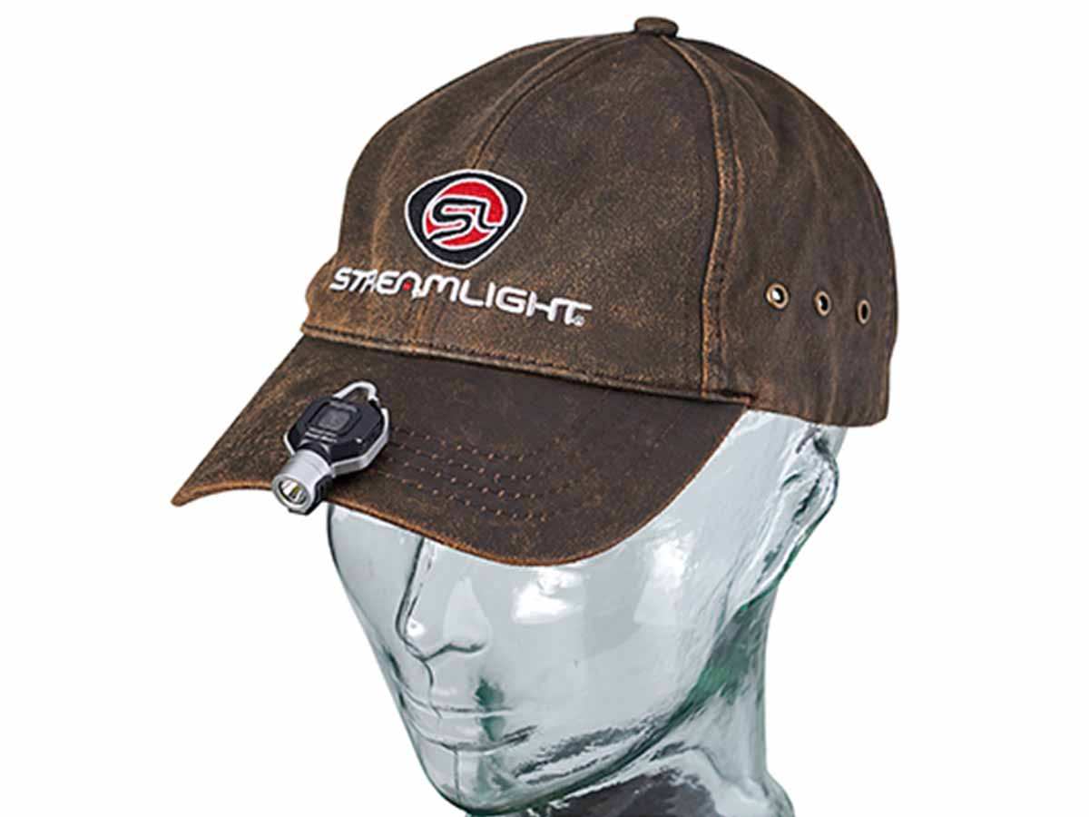 Pocket Mate in silver on a hat brim